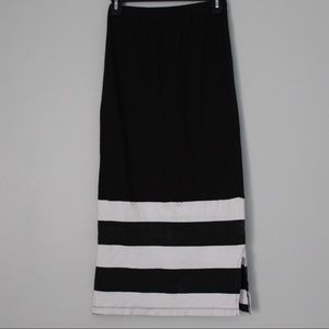 D-Signed by Disney Girls L White Stripe Maxi Skirt